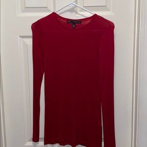 White House black market red long sleeve